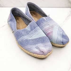 TOMS Espadrille Flats Slip On Shoes Size 6 Womens